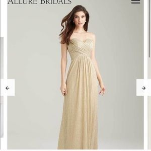 Champagne Allure Bridals Bridesmaid Dress